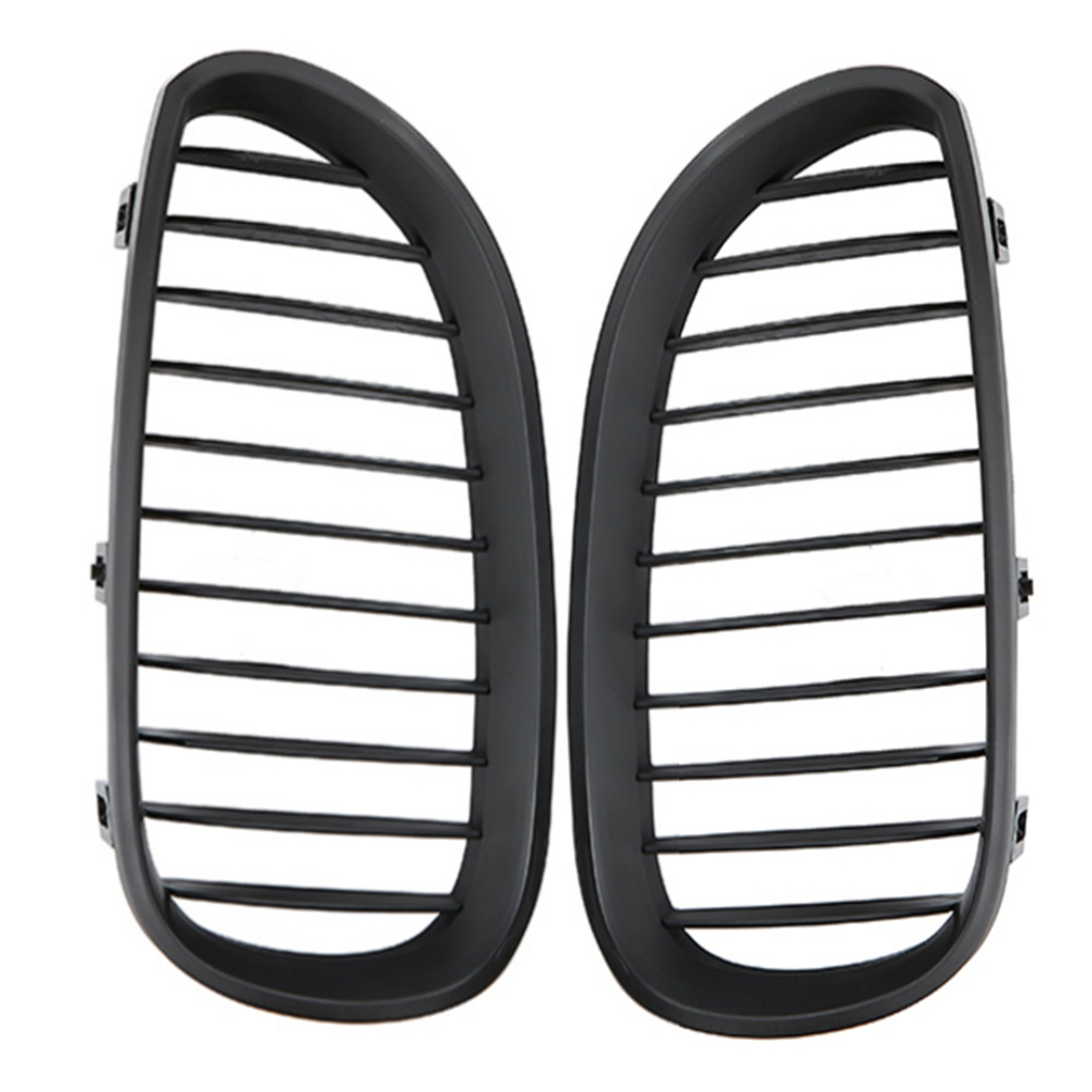 Image 5 - 1 Pair Car Grill Racing Grille Matte Black For BMW 5 Series E60 E61 M5 2004 2009 520d 525 Car Styling Front Grille Kidney Grille-in Racing Grills from Automobiles & Motorcycles