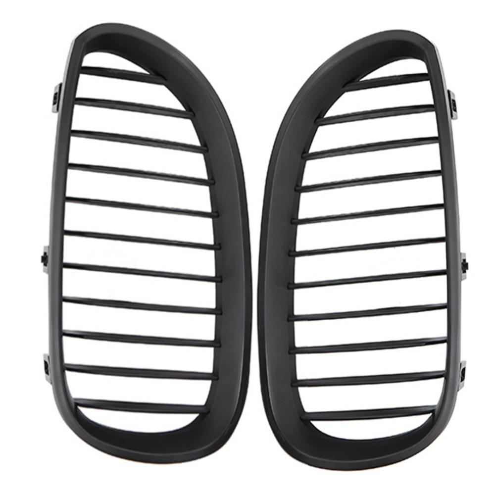 Image 5 - 1 пара автомобиля решетка для гоночного автомобиля решетка матовый черный для BMW 5 серия E60 E61 M5 2004 2009 520d 525 стайлинга автомобилей спереди решётка радиатора Решетка-in Гоночные решетки from Автомобили и мотоциклы
