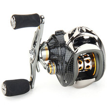 Right/Left EVA Hand 18+1 Ball Bearings Baitcasting Fishing Reel 6.3:1 Ultra Smooth High Speed Gear Ratio Light Carbon Fiber Drag