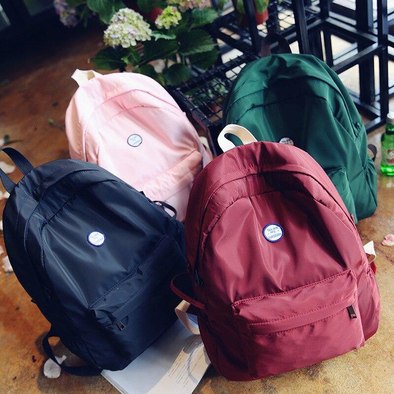 2019 neue Rucksack Wasserdichte Frauen Rucksack Retro Tragbare Bagpack Licht Reisetasche Rucksack Weibliche Teenager Mädchen Mochilas Mujer