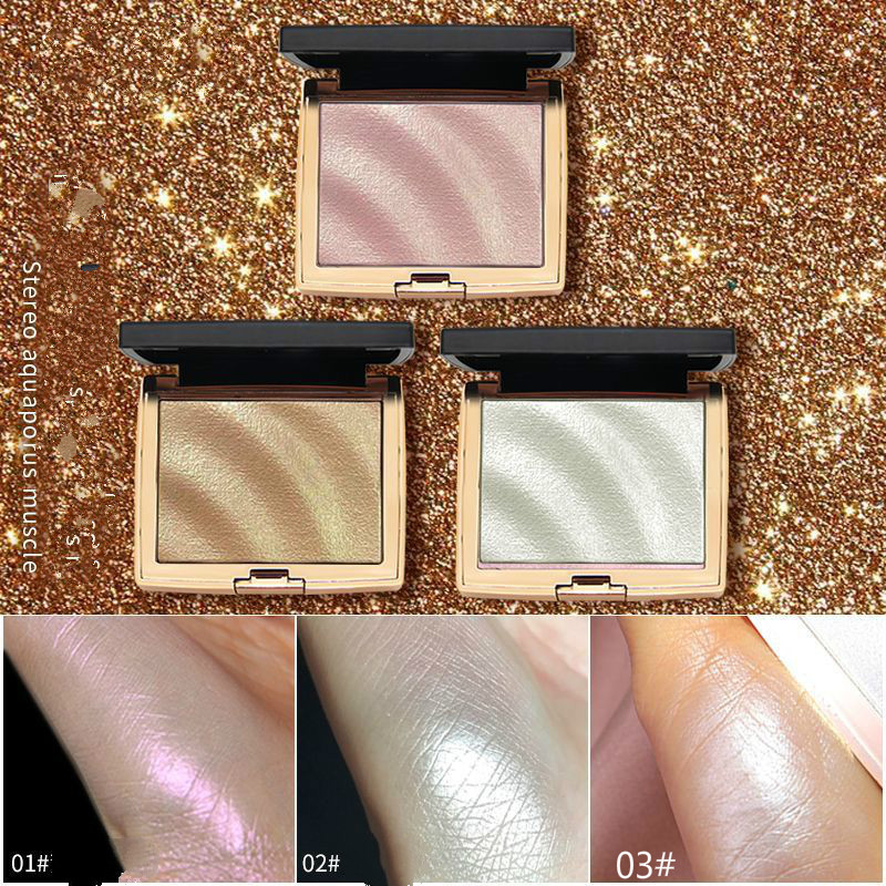 1Color 3 Styles Face Highlighter Contour Powder Palette Stereoscopic Five Senses V Shaped Face Bronzers Highlighter Powder