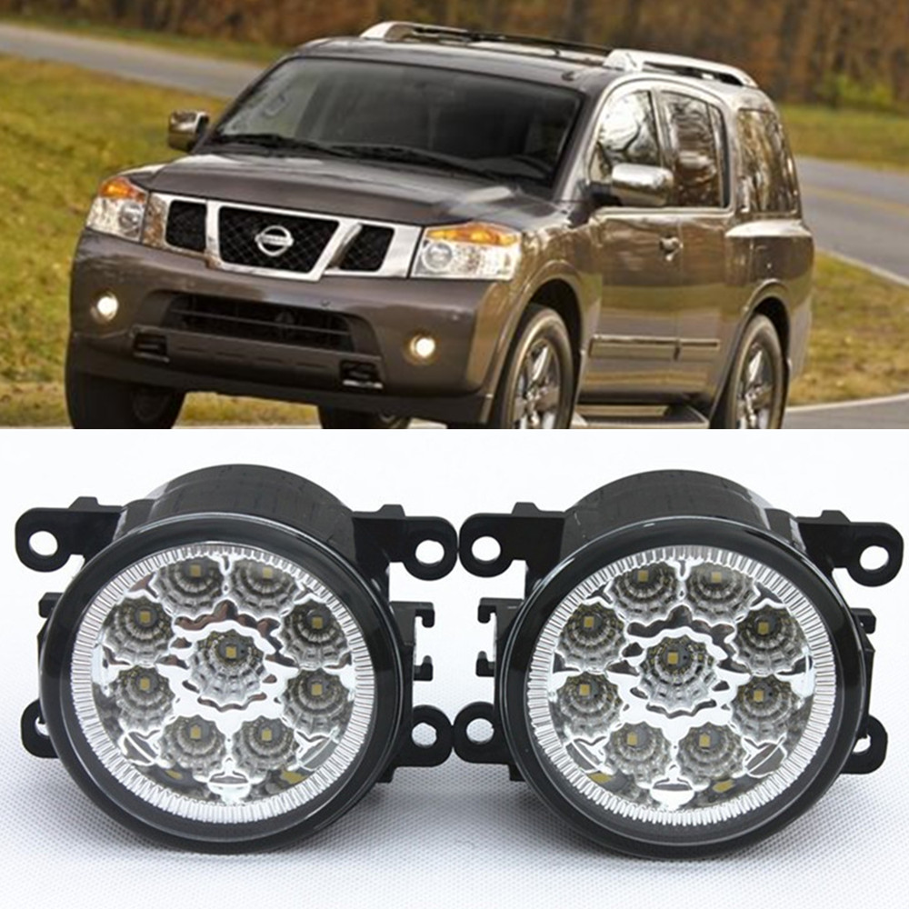 For NISSAN ARMADA Closed Off-Road Vehicle  2003-2015 Car-Styling Led Light-Emitting Diodes DRL Fog lamps 1set for nissan x trail t30 2001 2006 car styling led light emitting diodes drl fog lamps