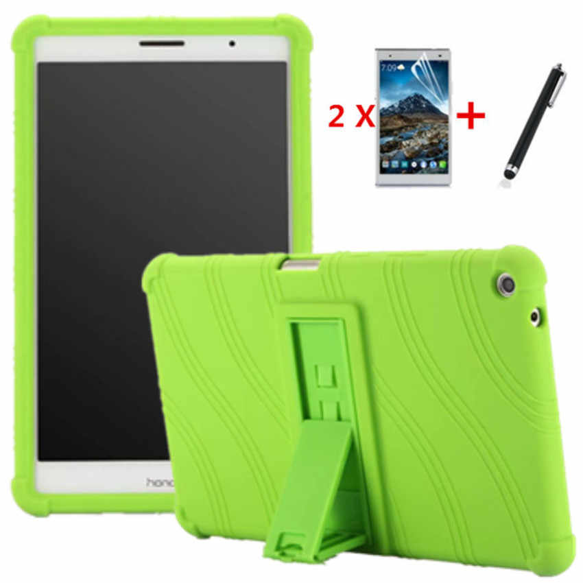 For Huawei MediaPad T3 8.0 Case KOB-L09 KOB-W09 Ultra Slim Soft Silicon Back Cover Tablet shell For Huawei T3 8 inch Cases+film