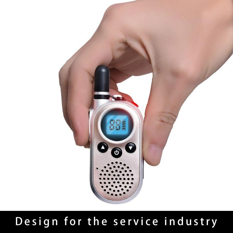 Mini portable radio Q9 walkie talkie Li-ion battery charger intercom walkie-talkie UHF 400-470 radio accumulator batter