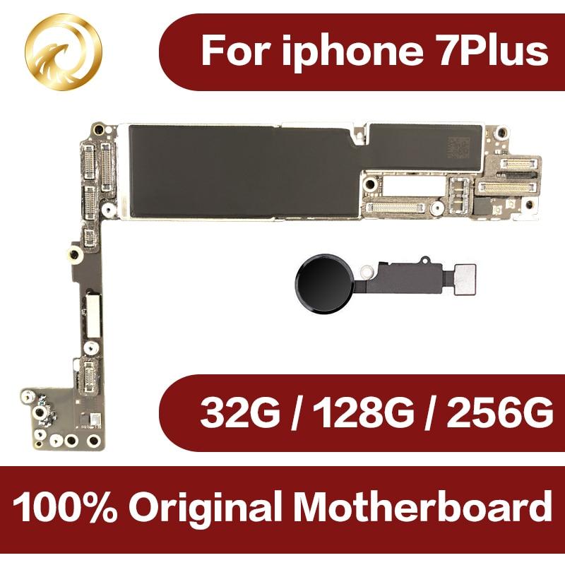 Оригинальный разблокирована для iphone 7 плюс материнская плата с Touch ID для iphone 7 P мобильного телефона материнская плата с чипами, 32 ГБ/128 ГБ/256 ГБ