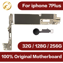 Original unlocked for iphone 7plus Motherboard with Touch ID,for iphone 7P Mobile phone motherboard with Chips,32GB/128GB/256GB