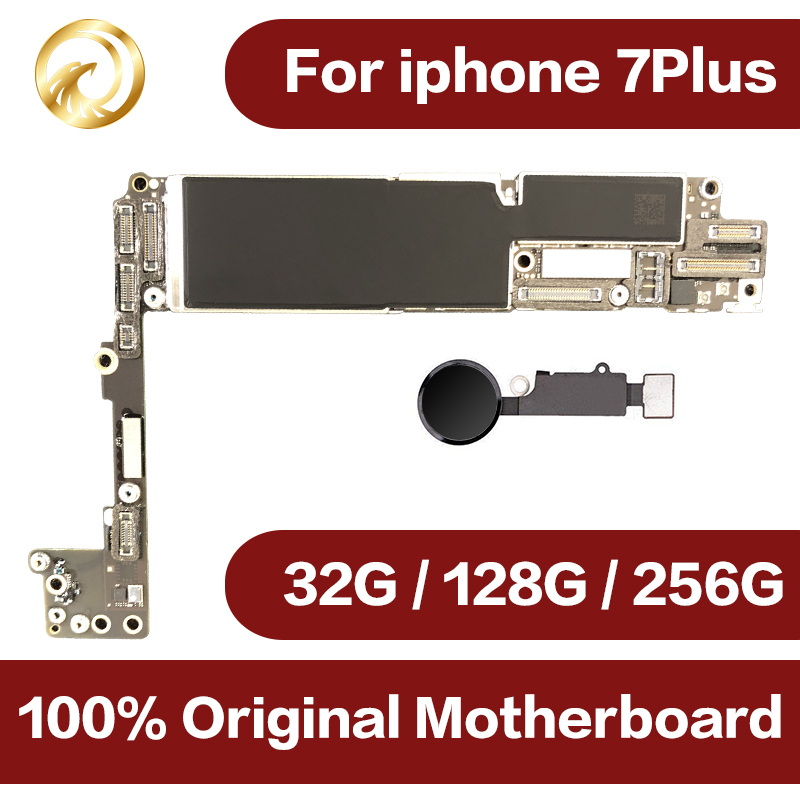 Originale sbloccato per iphone 7 plus Scheda Madre con Touch ID, per iphone 7 P scheda madre del telefono Mobile con Chip, 32 gb/128 gb/256 gb