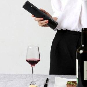 Image 4 - Youpin huohou abridor de garrafa de vinho tinto automático elétrico corkscrew folha cortador cortiça para fora ferramenta 6s abrir 550mah bateria