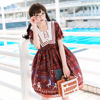Lolita Long Sleeve Two Yuan Dress Loli Dresses for Daily Life in Spring and Summer