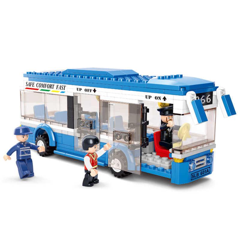 City Bus Garage School Bus Cargo Vrachtwagen Bouwstenen Sets Legoes Bakstenen Kinderen Speelgoed Marvel Stad Vrienden