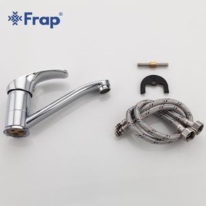 Image 5 - Frap New Arrival Kitchen Faucet Chrome Brass Single Handle 360 Degree Rotation Hot and Cold Water Classic Kitchen Sink Tap