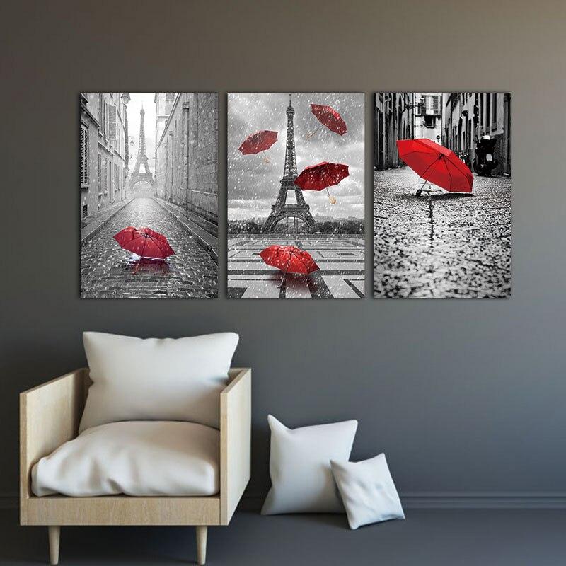 Wall art decoration set of 3 pieces PVC//Canvas White orchids Size S//M//L