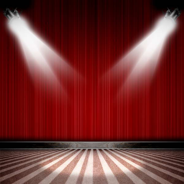 10x10FT Dark Red Curtain Drape Spotlight Stage Stripes