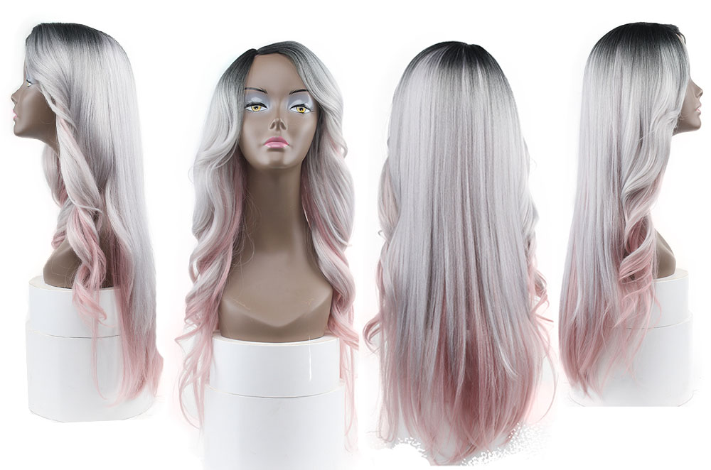 lace wig pink