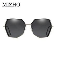 MIZHO 2019 Irregular Hexagon Polaroid Sunglasses Women Brand Designer Sexy Oversized Gradient Glasses Ladies Mirror Vintage