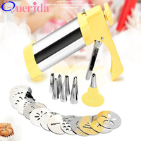 ABS + Stainless Steel Baking Tools Decorative Spray Gun Biaohua Bag Biaohua Decorating Mouth Cookie Gun Biscuit mold decorating
