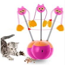 Забавные игрушки для кошек 3 в 1 многофункциональный автоматический спиннинг шарик для котов стакан с Chaser свет и еда диспенсер