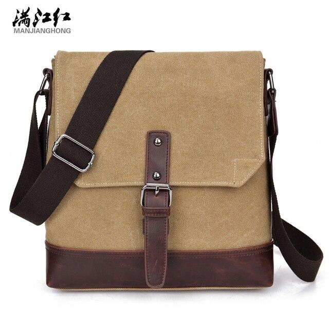 e52d1a96cea Men's Black Vintage Messenger Bags Canvas Satchel School Military Shoulder  Bag Boy's Travel Handbag Business Crossbody Bag-in Crossbody Bags from ...