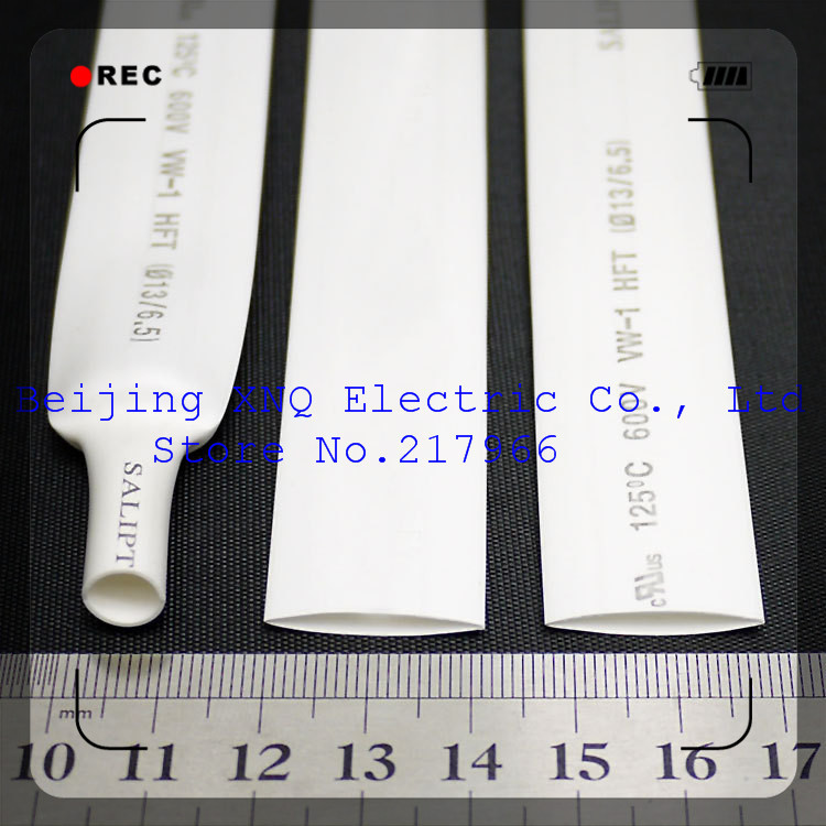 Effizient 13mm Weiß Schrumpf Schlauch Schrumpf Schlauch Wärme Schrumpf Schlauch Isolierung Rohs Ul Zertifizierten Umwelt ZuverläSsige Leistung Elektronische Bauelemente Und Systeme