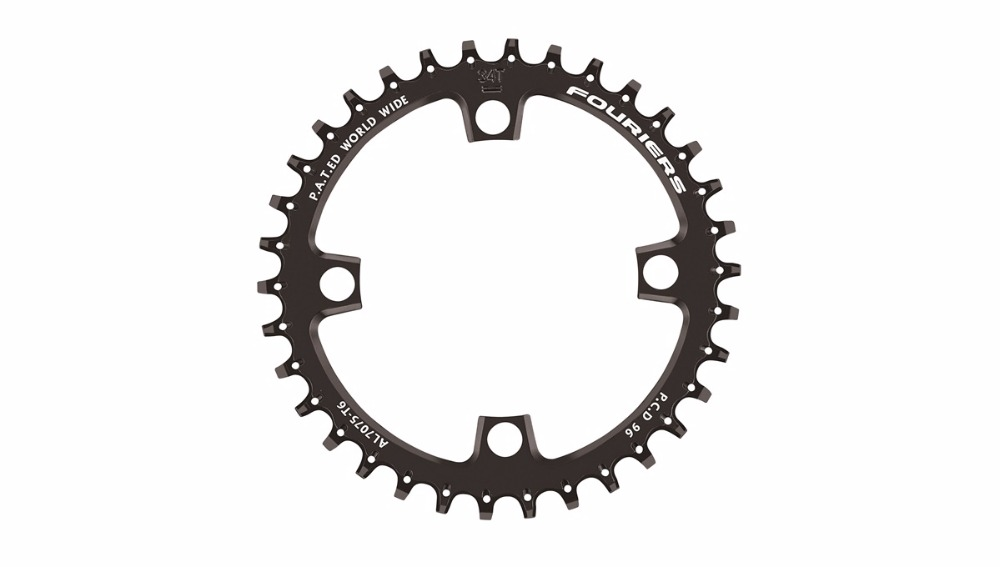 FOURIERS CR-DX010 bicycle Full CNC made narrow wide mtb mountain bike chainring for 1x system for P.C.D 96mm x 4 arms standard. bdsnail bike bicycle suit sets crankset crank chainwheel 30t 32t 34t 7075 cnc narrow wide chainring for gxp xx1 x9 xo x01 cnc al