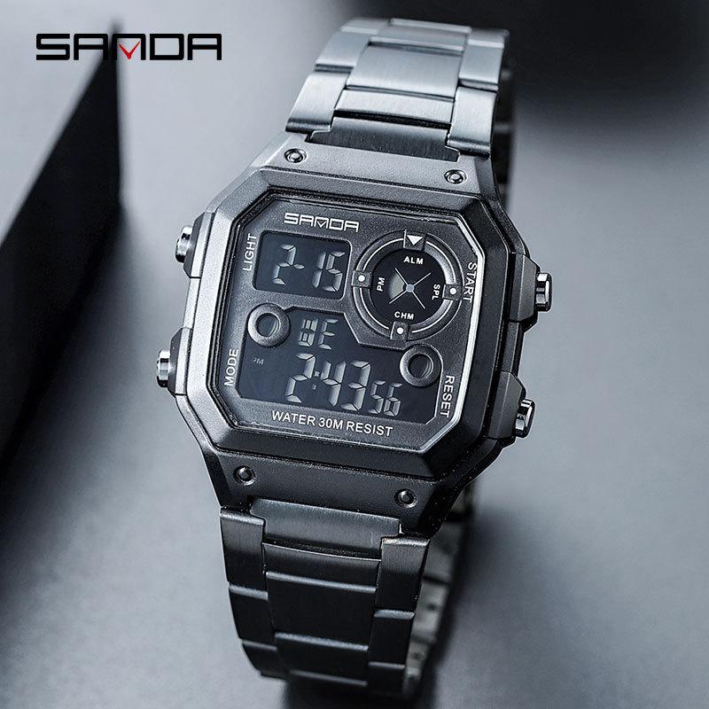 88cb261d24e SANDA 2018 Homens Esportes Relógios Mens Relógios Top Marca de Luxo Masculino  relógio Eletrônico Digital Relógio