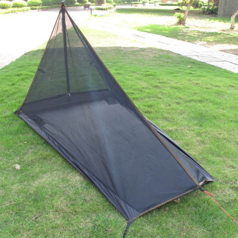 ultra leve 592 gramas trapezoidal 1 2persons unica tenda gaze verao mosquito tenda