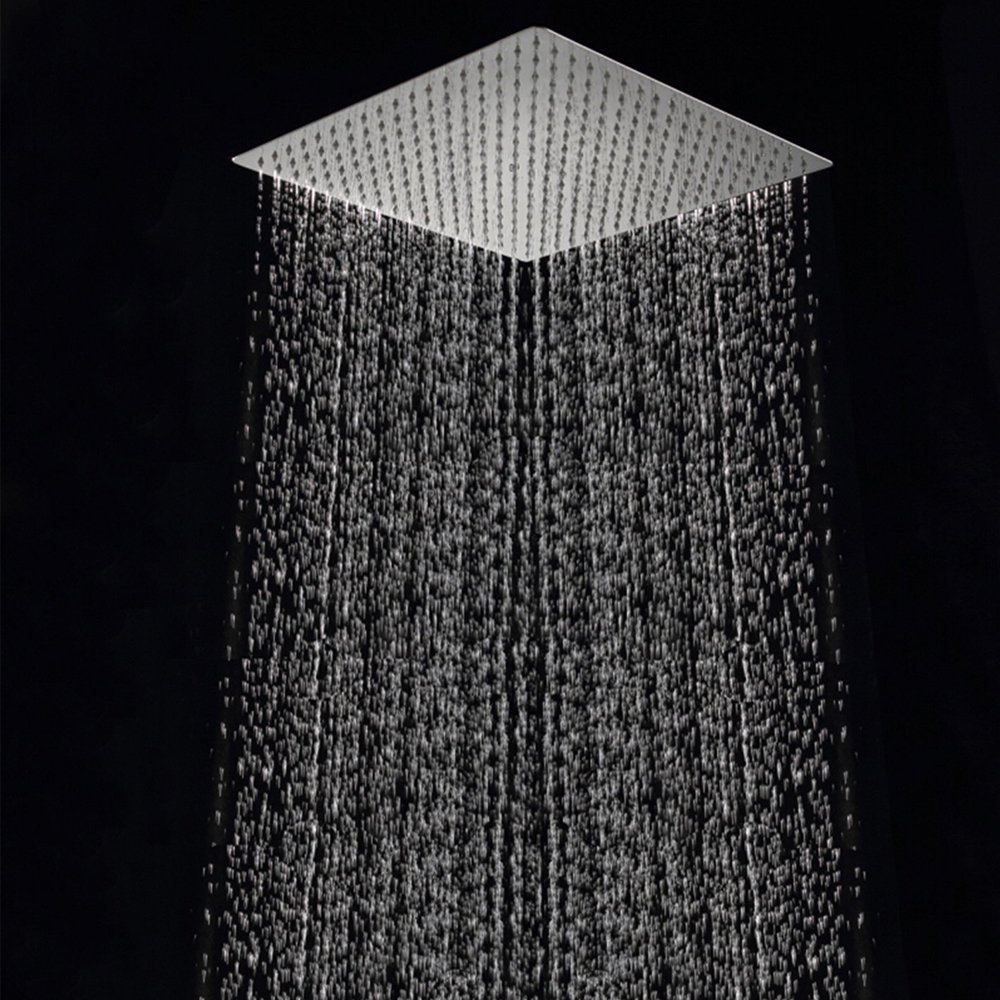 Free shipping 40cm * 40cm square rainfall shower head.16 inch stainless steel ultra-thin ceiling rain shower rain shower head. rain siemer soovin sulle head