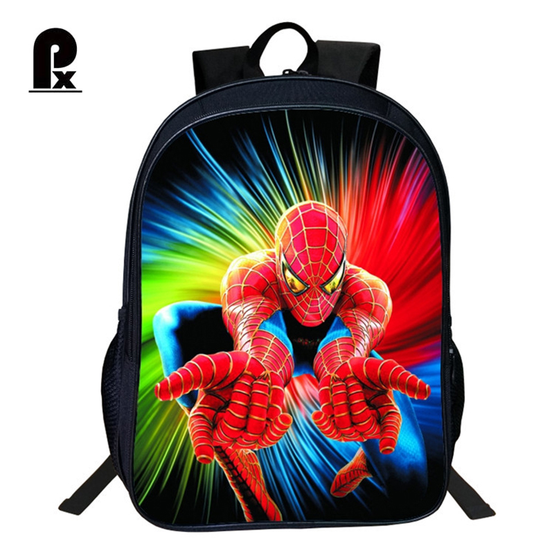 Pacento Spider Man Cartoon Animation School Children Backpack Childrens Bag Students Shoulder Bags Waterproof Back Pack Cool