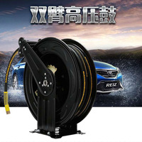 Automatic expansion recovery coiler explosion proof steel wire braided high pressure rubber hose roller plumbing