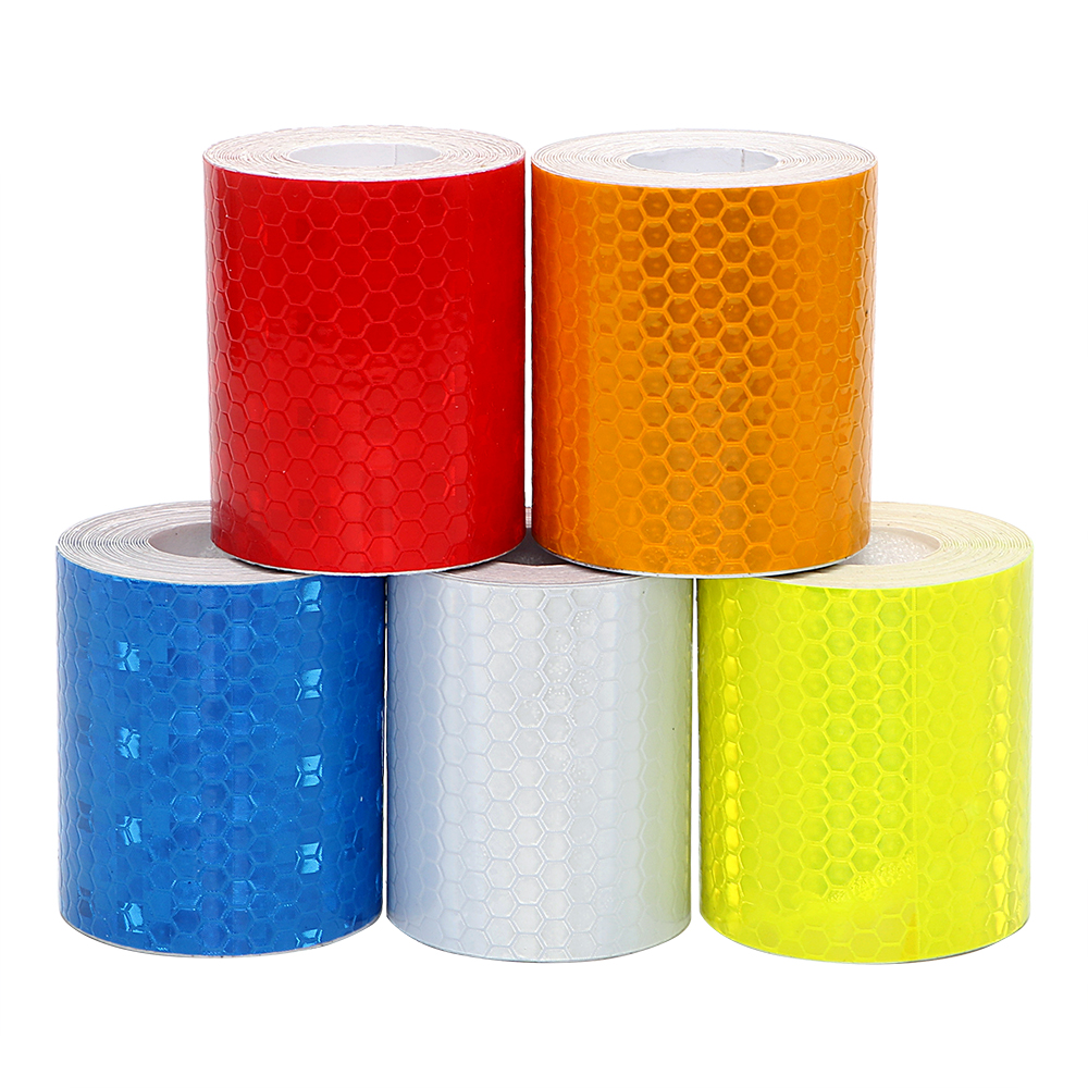 5cm x 300cm Reflective Tape Warning Strip Motorcycle Cycling Car Stickers Driving Safety 5 Colors Protective Car Styling 16 strips motorcycle accessories 7 colors car styling decals 17 or 18 inch car stickers wheel rim sticker reflective tape