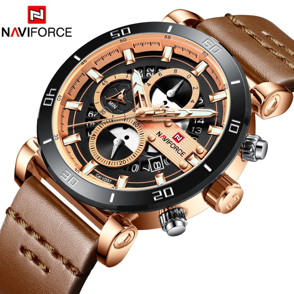 2019 Montre Hommes NAVIFORCE Mode Sport Quartz Horloge Hommes Montres Top Marque De Luxe D'affaires Montre Étanche Relogio Masculino
