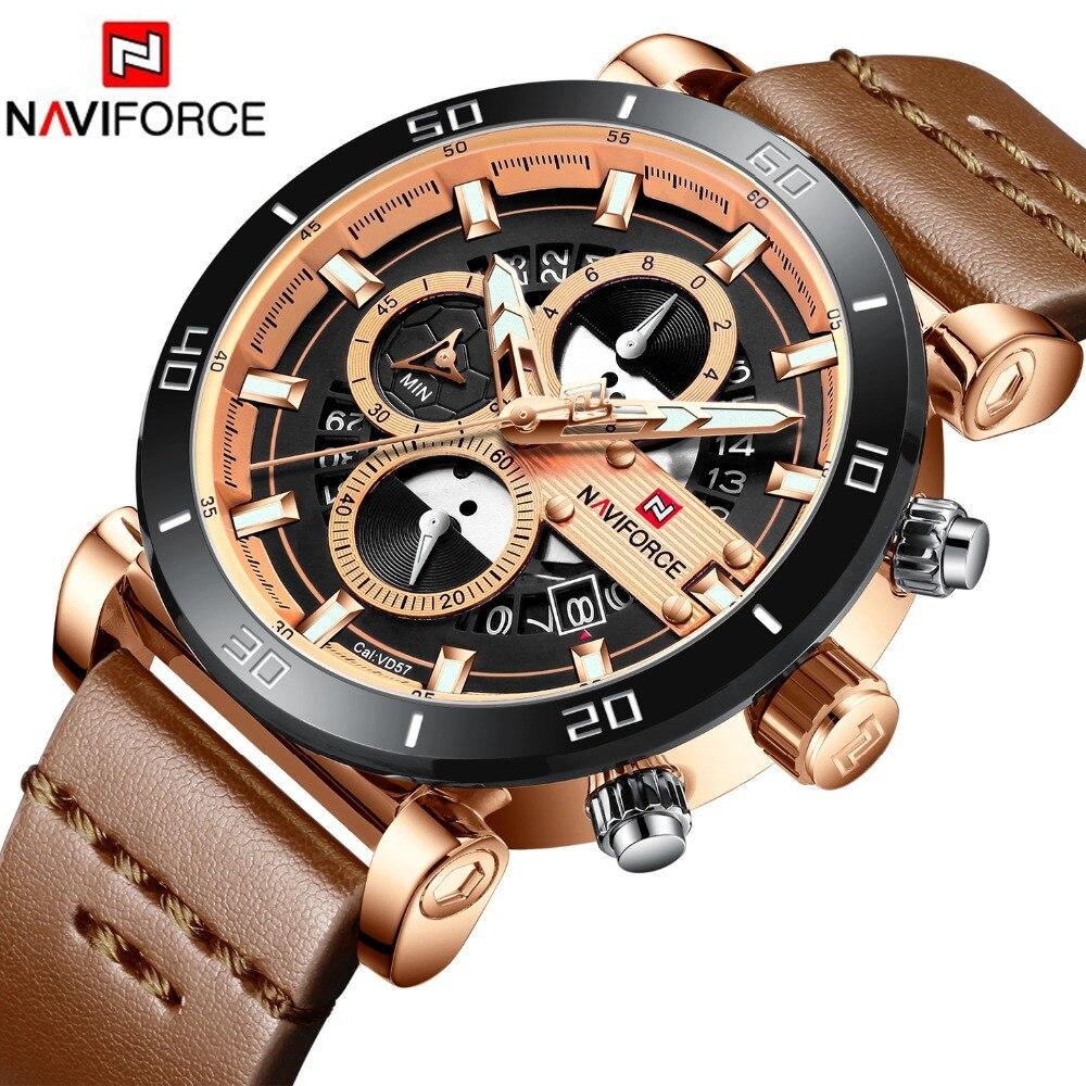 2019 montre pour homme NAVIFORCE Mode Sport Quartz Horloge montres homme Top Marque De Luxe D'affaires montre étanche Relogio Masculino