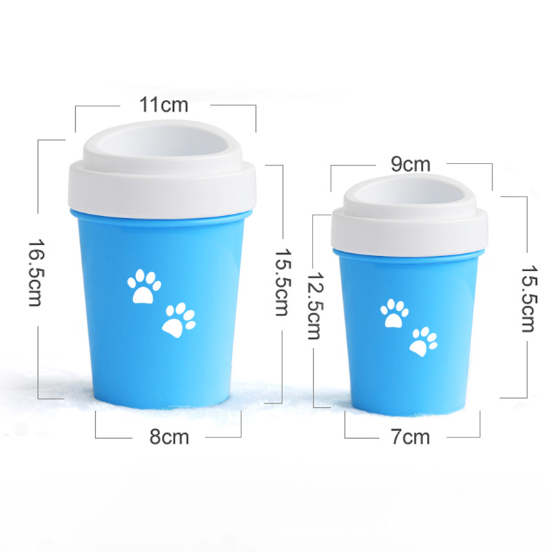 Dog Paw Cleaner Cat Pet Foot Washer Cup Soft Brush Dog Foot Cleaner Dog Paw Cleaning Pet Dirty Feet Washer Pet Cleaner supplies in Dog Accessories from Home Garden