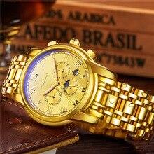 Оригинальный Бренд SOLLEN мужские Часы Автоматические Механические Бизнес Спорт Наручные Часы Водонепроницаемый Мужской Часы Часы Relogiol