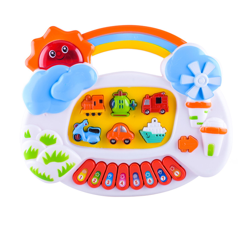 Funny Musical Cartoon Electric Organ Toys Stimulated Vehicle Sound Mode  Keyboard Great Music Toy Gift for Kids-in Toy Musical Instrument from Toys  &