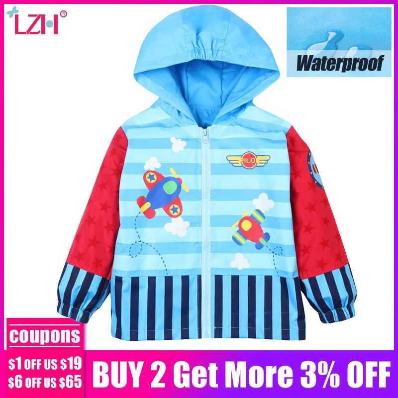 025a08140 LZH 2018 Spring Autumn Jacket For Girls Windbreaker Trench Coat For Boys  Raincoat Jacket Kids Outerwear