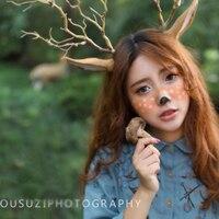 Fasce per le donne ragazze regalo di natale decorazioni di festa rifornimenti del partito di modo deer antlers capelli delle donne della fascia