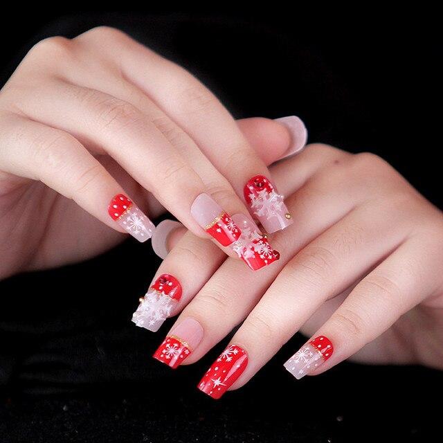 DIY Nail Salon Goods Shine Surface Classic 24 Pcs with Small diamond ...