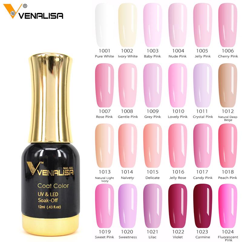 #60751 Venalisa Gel de esmalte de uñas de alta calidad Salón de Arte de uñas punta Color 120 ml 12 ml VENALISA remojo orgánico LED UV Gel de uñas barniz