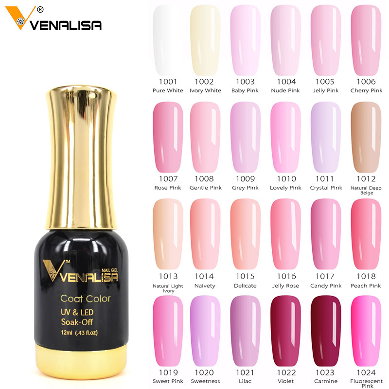 #60751 Venalisa Gel de esmalte de uñas de alta calidad Salón de Arte de uñas punta 120 Color 12 ml VENALISA remojo orgánico LED UV Gel de uñas barniz