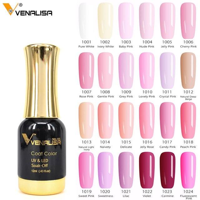 #60751 Venalisa Unha Polonês Gel De Alta Qualidade Nail Art Salon Dica 120 Cor ml VENALISA 12 Soak off Orgânica LED UV Unhas de Gel Verniz