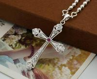 2018 New Arrival Stylish Silver Cross Necklaces Pendant For Women Hot Sales Discount Jewelry