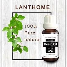 2017 New Lanthome Original Men Beard growth oil mustache grow serum stimulator 100% natural acceler beard growth essence 20ml