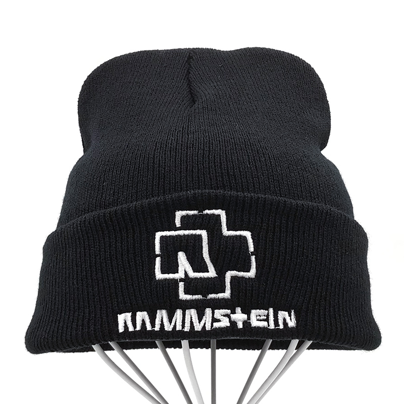 2019 New Rammstein   Beanie   Hat High Quality Casual   Beanies   for Men Women Warm Knitted Winter Hat Fashion Unisex Cap