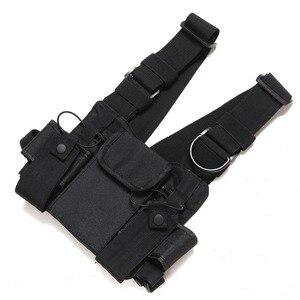 Image 3 - Нагрудный ремень для радиоприемника, нагрудная сумка для передней сумки, кобура, жилет для переноски парча для двухсторонней радиосвязи Baofeng TYT d xun Moto Walkie Talkie