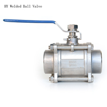 1/2 to 1 SS304  Stainless Steel Ball Valve with Vinyl Handle, 3Pc Valves