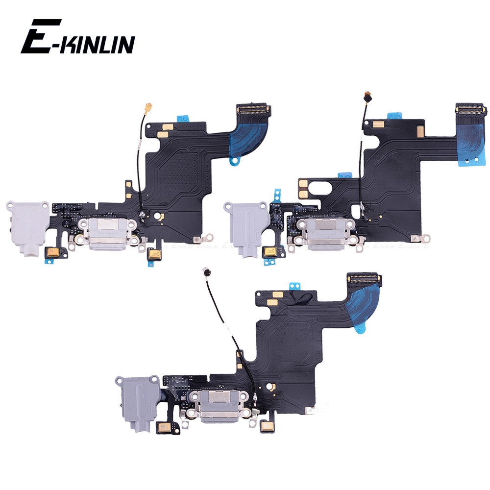 100% New USB Charger Power Port Dock Connector Plug Flex Cable With HeadPhone Jack For IPhone 6 6S Plus RePlacement Parts