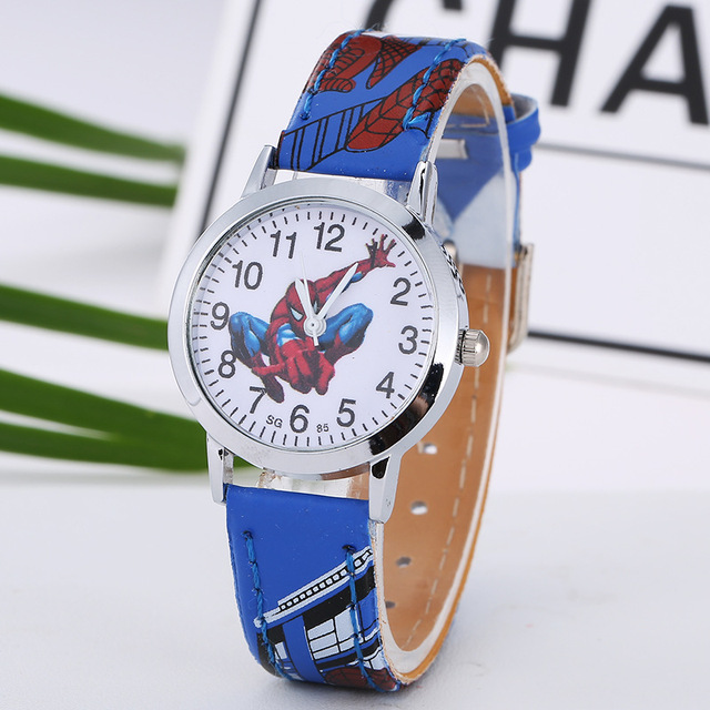 Fashion Brand Cartoon Cute Kids Quartz Watch Children Girls Leather Bracelet  Wrist Watch Wristwatch Clock 8A05