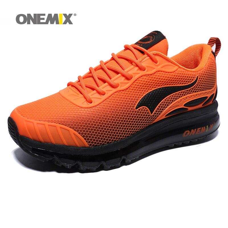 ONEMIX baskets homme respirant Zapatillas Hombre extérieur homme chaussures en Orange Trail Running chaussures marche Sport Gym baskets