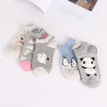 5 pairs women cotton socks Cute animal Striped Women Socks Creative Casual Funny Socks for Female цены